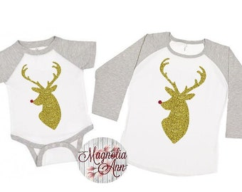 Family Reindeer Shirts, Christmas Shirts, Matching Christmas Shirts, Plus Size Christmas Shirt, Family Christmas, Matching Reindeer Shirts