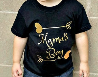 Mama's Boy, Mommy and Me, Toddler Kids T-shirt in Sizes 2T-5/6