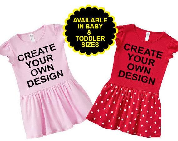 Custom Design, Create Your Own Girls Dress, Toddler Dress, Custom Toddler Dress, Personalized Toddler Dress, Custom Infant Dress. Baby Dress