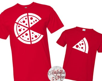 a7cefa2c Pizza Shirt Set, Father Son Tees, Father's Day Shirt, Father Son Matching  Shirts