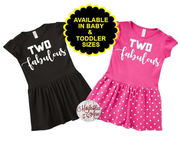 Two Fabulous, 2nd Birthday Dress, Birthday Outfit,  2nd Birthday Outfit, Second Birthday Outfit, 2nd Birthday Dress, Birthday Girl Dress