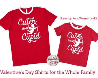 Cuter Than Cupid Shirt, Valentine's Day Shirt, Plus Size Valentine's Shirt, Mommy and Me Valentine's Shirt, Kids Valentine's Day Shirt