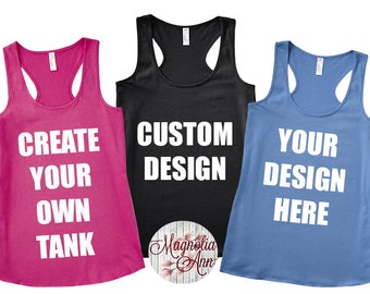 Custom Racerback Tank, Custom Bachelorette Tanks, Personalized Tank Top, Custom Shirt, Matching Tanks, Custom Womens Shirts, Custom Tank Top