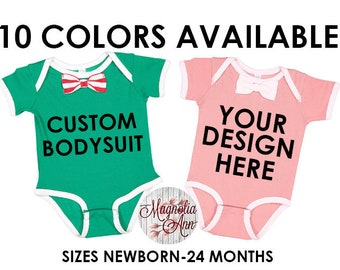 Custom Bow Tie Baby Bodysuit, Create Your Own Personalized Baby Bodysuit, Bow Tie Bodysuit, Baby Gift, Baby Shower Gift, Personalized Gift