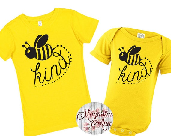 Bee Kind Shirt, Bumble Bee Shirt, Bee Shirt, Kids Shirt, Girls Bee Shirt, Toddler Bee Shirt, Baby Tee, Baby Bee Shirt, Matching Shirts, Bee