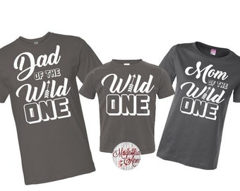 Family of The Wild One Shirt, Wild One Birthday, 1st Birthday Family Shirts, Mom and Dad of the Wild One, First Birthday Shirt, 1st Birthday