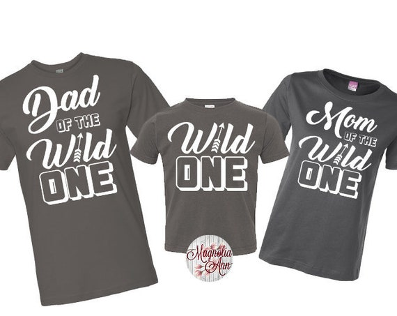 Family of The Wild One Shirt, Wild One Birthday, 1st Birthday Family Shirts, Mom and Dad of the Wild One, First Birthday Shirt, 1st Birthday