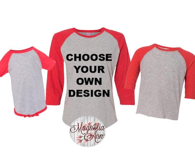 Featured listing image: Custom Baseball Shirt, Custom Shirt, Custom Raglan, Personalized Raglan Shirts, Baseball Tee, Custom Baseball Tee, Plus Size Raglan Shirt