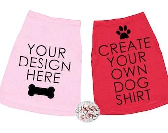 Custom Dog Shirt, Personalized Dog Shirt, Custom Logo Dog Shirt, Customizable Dog Shirt, Dog Clothing, Puppy Clothing, Pet Gift, Dog Costume