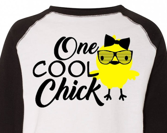One Cool Chick, Kids Easter Shirt , Toddler Easter Shirt, Toddler Easter Raglan, Toddler Raglan, Girls Easter Tee, Girls Easter Shirt