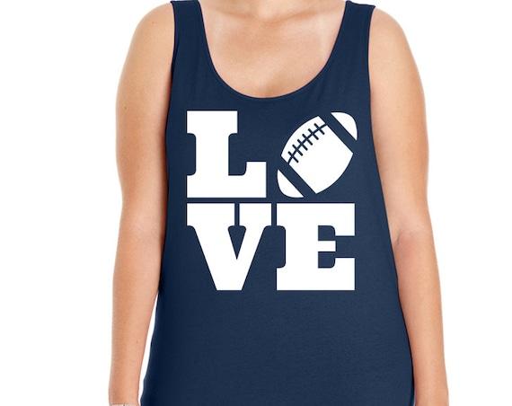 Love Football Women Tank Top, Football Tank, Football Shirt, Workout Shirt, Love Football, Size Small-4X, Plus Size Clothing, Plus Size Tank