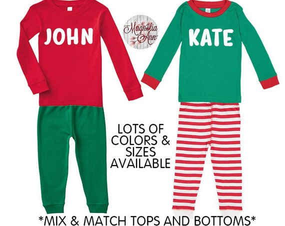 Personalized Christmas Pajamas, Kids Pajamas, Christmas Pajamas, Baby Pajamas, Toddler Pajamas, Matching Pajamas, Customized Pajamas