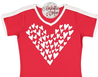 Heart Shirt, Valentine's Day Shirt, Plus Size Valentine's Shirt, Mommy and Me Valentine's Shirt, Kids Valentine's Day Shirt, Youth Vday Tee