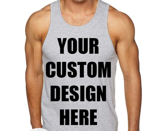 Create Your Own Design Men's Tank Top, Custom Tank Top, Mens Custom Shirt, Personalized T-shirt, Unisex Adult Tank, Custom Mens Tee