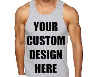 Create Your Own Design Men's Tank Top, Custom Tank Top, Mens Custom Shirt, Personalized T-shirt, Unisex Adult Tank, Custom Mens Tee