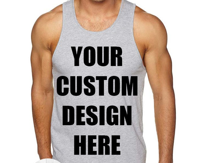 Featured listing image: Create Your Own Design Men's Tank Top, Custom Tank Top, Mens Custom Shirt, Personalized T-shirt, Unisex Adult Tank, Custom Mens Tee