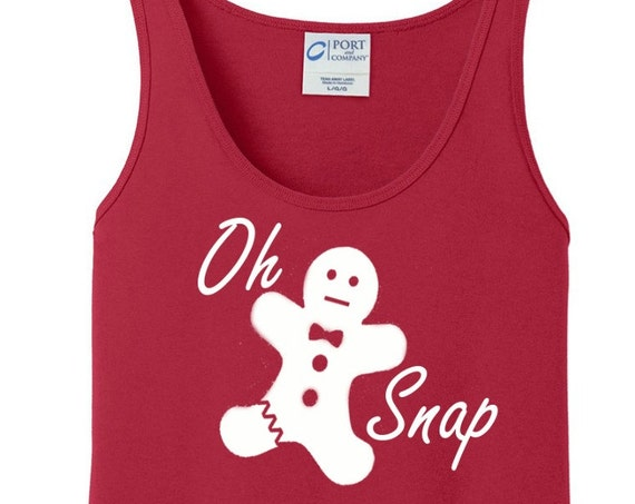 Oh Snap Gingerbread, Christmas, Women's Tank Top in 6 Colors, Sizes Small-4X, Plus Size, Plus Size Clothing
