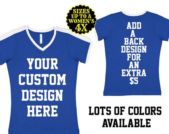 Custom Soccer Ringer Shirt- Womens Soccer Shirt- Ringer Tee- Game Day Shirt- Soccer Tee- Plus Size Clothing- Plus Size Soccer- Soccer Mom