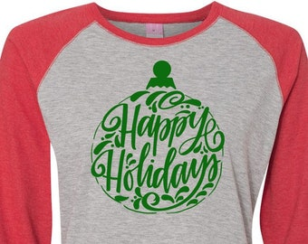 Happy Holidays, Christmas Shirt, Matching Christmas Shirts, Plus Size Christmas Shirt, Family Christmas Shirts, Plus Size Holiday Top