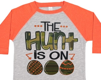 The Hunt Is On Boys Easter Shirt, Easter Egg Shirt, Easter Shirt, Boys Easter Tees, Easter Egg Tees, Boys Easter Shirt, Matching Family Tees