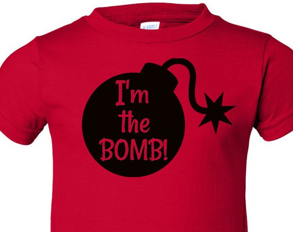 I'm the Bomb, boys graphic tee, baby boys shirt, toddler boy shirt, infant boys shirt, toddler graphic tee, kids shirt, kids clothing, kids