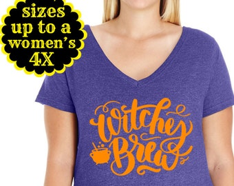 Witches Brew, Halloween Shirt, Plus Size Halloween Shirt, Plus Size Clothing, Sanderson Sisters, Witch Shirt, Hocus Pocus Shirt, Witch Tee