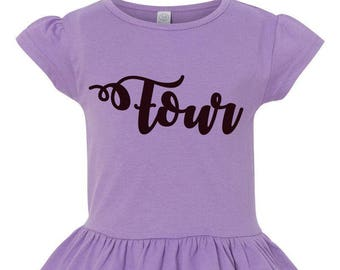 Four Girls Ruffle Tee