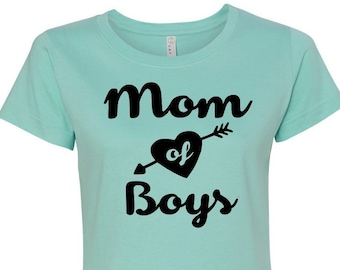 Mom of Boys Shirt, Mom Shirt, Mom of Boys Tee, Boy Mom, Momlife Shirt, Gift for Mom, Plus Size Mom Shirt, Plus Size Clothing, Boy Mom Tee