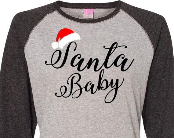 Santa Baby, Christmas Shirt, Matching Christmas Shirts, Plus Size Christmas Shirt, Family Christmas Shirts, Plus Size Holiday Top, Santa Tee