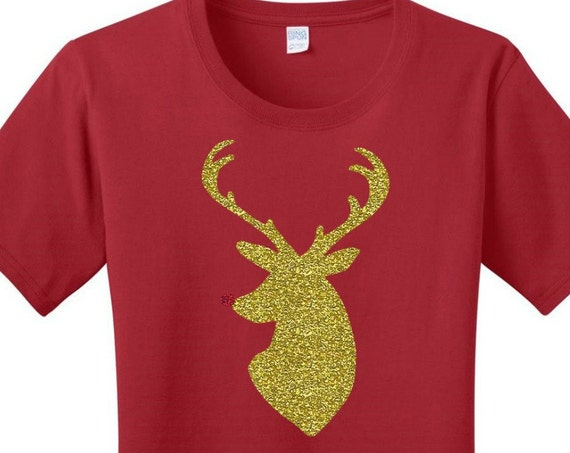 Rudolph the Red Nose Reindeer, Christmas, Women's T-shirts in 7 Colors in Sizes Small-4X, Plus Size, Plus Size Clothing