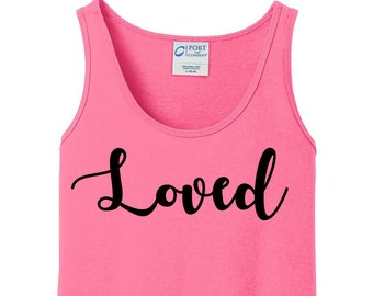 Loved Valentines Day, Women's Tank Top in 6 colors in Sizes Small-4X, Plus Size