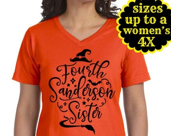 Fourth Sanderson Sister, Hocus Pocus Shirt, Halloween Shirt, Plus Size Clothing, Plus Size Halloween, Sanderson Sisters, Witch Shirt, Disney
