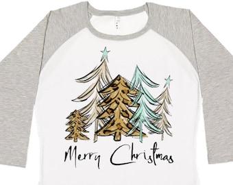 Christmas Tree Shirt, Girls Christmas Shirt, Womens Christmas Shirt, Plus Size Christmas Shirt, Matching Christmas Shirt, Kids Christmas Tee