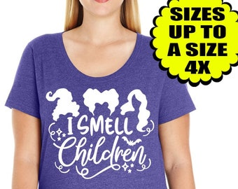 I Smell Children Shirt, Hocus Pocus Shirt, Halloween Shirt, Plus Size Clothing, Plus Size Halloween, Sanderson Sisters, Witch Shirt, Disney