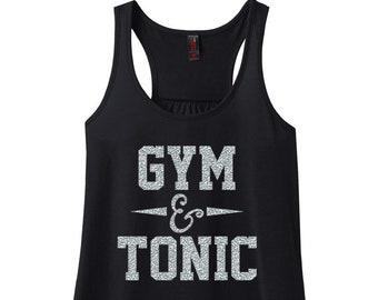 Gym And Tonic, Gym Shirt, Gym Tank, Plus Size Gym Shirt, Plus Size Clothing, Workout Tank, Gym Tee, Plus Size Tank Top, Fitness Shirt