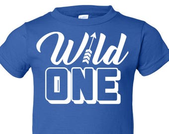 Wild One, 1st Birthday, Toddler T-Shirt in 11 Different Colors in Sizes 2T-5/6