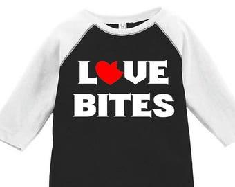 Love Bites Toddler Baseball Raglan T-shirt, Valentines Day Shirt, Kids Valentines Day Shirt, Toddler Valentines Shirt, Toddler Tee, Love Tee