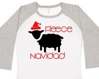 Fleece Navidad Sheep, Christmas Shirts, Matching Christmas Shirts, Plus Size Christmas Shirt, Family Christmas Shirts, Plus Size Holiday Top