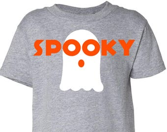 Spooky, Ghost, Halloween, Toddler T-Shirt in 11 Different Colors in Sizes 2T-5/6
