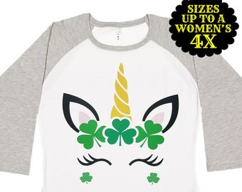 St. Patricks Day Shirt, Unicorn St Patricks Day Shirt, Matching St Patricks Day Shirt, Plus Size St Patricks Day Shirt, Kids St Patricks Day
