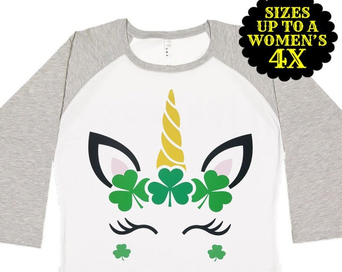 Featured listing image: St. Patricks Day Shirt, Unicorn St Patricks Day Shirt, Matching St Patricks Day Shirt, Plus Size St Patricks Day Shirt, Kids St Patricks Day