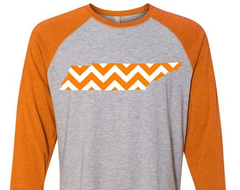 University of Tennessee, Tennessee State, College Football, Plus Size Clothing, Tennessee Raglan, Tennessee College Tee, Plus Size Tennessee