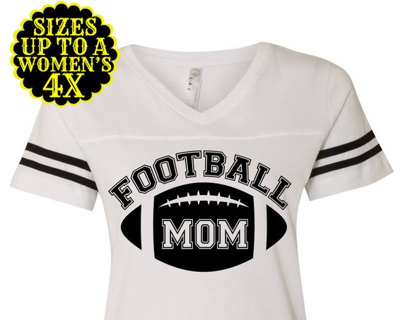 Football Mom Shirt- Womens Football Shirt- Football Jersey- Tailgate Shirt- Sports Tee- Football Tee- Plus Size Clothing- Plus Size Football
