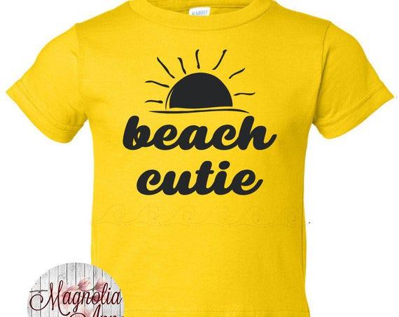 Beach Cutie Shirt, boys graphic tee, girls graphic tee, baby shirt, kids clothes, toddler shirt, beach shirt, summer tees, infant shirt