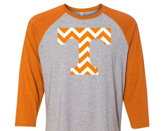 University of Tennessee, Tennessee State, College Football Plus Size Clothing, Tennessee Raglan, Tennessee Baseball Tee, Plus Size Tennessee