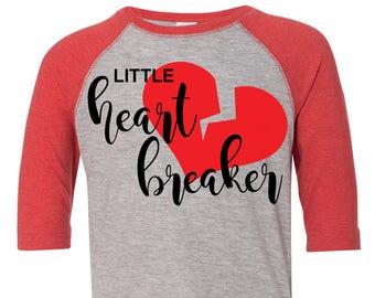 Little Heart Breaker Toddler Baseball Raglan T-shirt, Valentines Day Shirt, Kids Valentines Day Shirt, Toddler Valentines Shirt, Toddler Tee