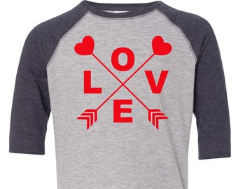 Love Arrow Toddler Baseball Raglan T-shirt, Valentines Day Shirt, Kids Valentines Day Shirt, Toddler Valentines Shirt, Toddler Tee