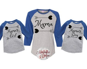293973ad4c Mommy and Me Shirts, Mamas Girl, Mamas Boy, Matching Shirts, Family shirts,  Mom and Daughter, Mom and Son, Matching Outfit, Plus Size Mommy