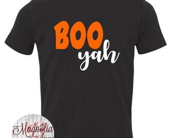 Boo Yah, Halloween, Toddler T-Shirt in 11 Different Colors in Sizes 2T-5/6