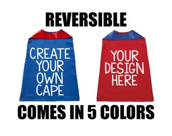 Custom Cape, Custom Superhero Cape for Kids, Halloween Kids Cape, Reversible Cape, Kids Superhero Capes, Capes for Girls, Capes for Boys